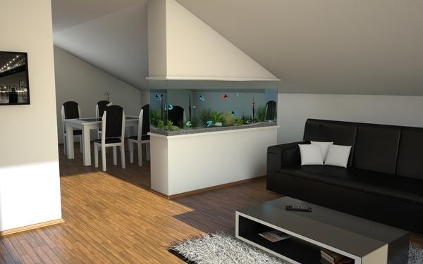 Всекидневна с аквариум