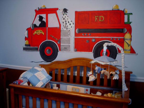 Детска стая с пожарна
