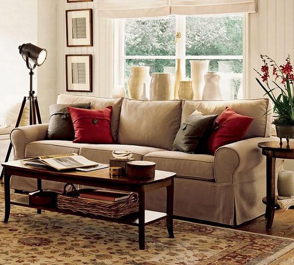 Мястото на дивана във всекидневната