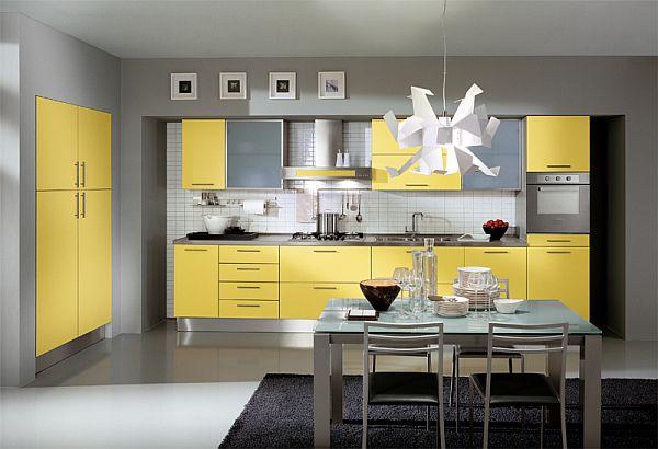 Стилна кухня в жълто