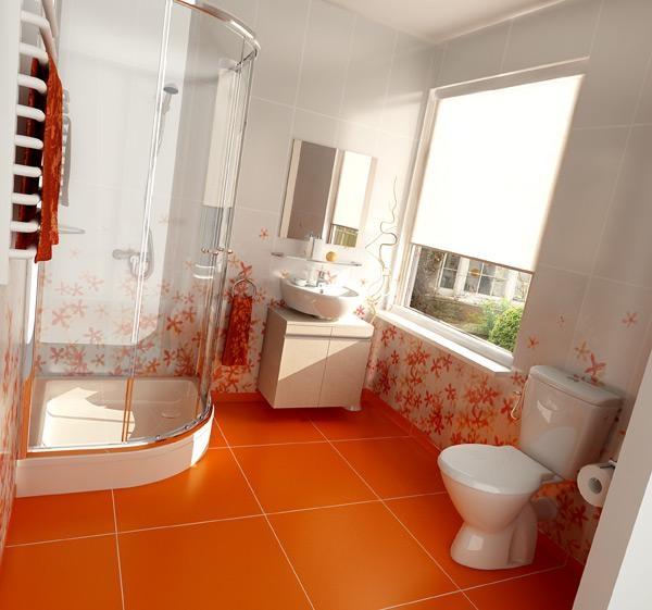 баня в оранжево