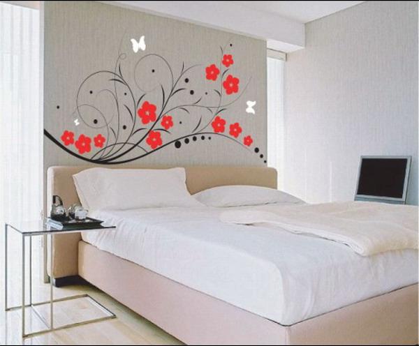 Декорация за стена с цветя