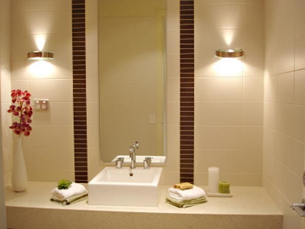 Осветителните тела в банята