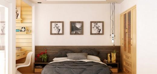 съвременна спалня