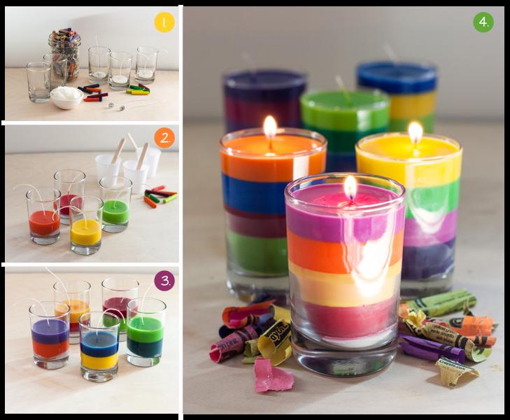 Многоцветни свещи